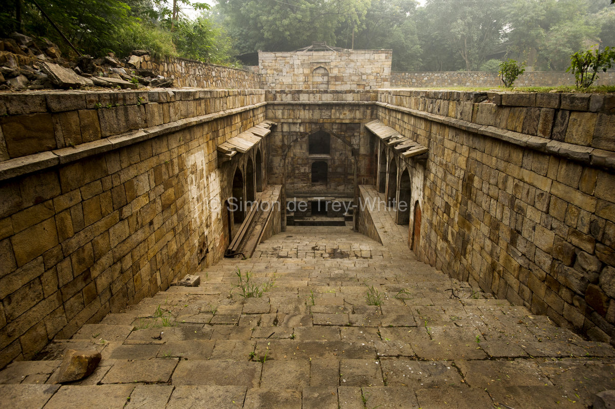 The steps on the North side of the Red Fort baoli