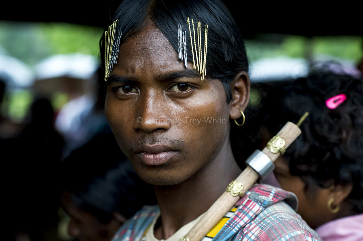 A Dongria Kondh tribesman with forest axe